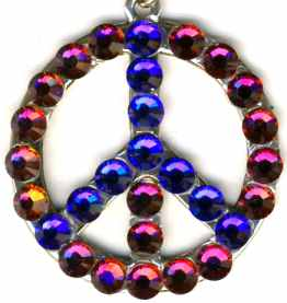 Swarovski Crystal Peace Sign Jewelry
