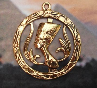 Egyptian Queen Nefertiti Medallion Pendant - Mandarava Gifts for the