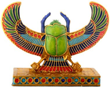 Ancient Egyptian Winged Scarab Statue Mandarava Gifts