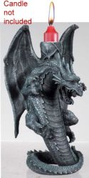 Gray Dragon Candle Holder