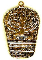 Isis and Hieroglyphs Pendant Available on Display Card