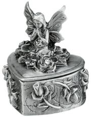 Pewter Praying Fairy Box