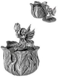 Pewter Poppy Bud Fairy Box