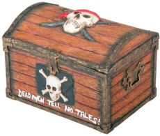 Pirate Skull Chest Box