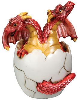 2-headed Dragon Hatchling Statue