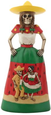 Day Of The Dead Sandia Senorita Skeleton Statue