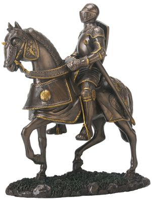 Medieval Knight Statues - English Knight On Horse