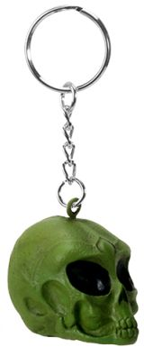Green Alien Skull Key Chain (12 Pack)