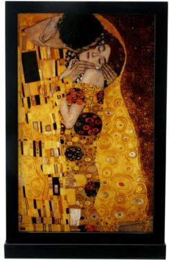 Klimt - Kiss Art Glass Decoration