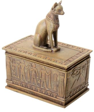 Sandstone finish bastet box mandarava gifts for the spirit for Bat box obi