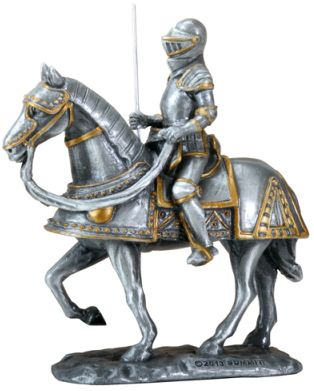 Spanish Knight On Horse - Pewter