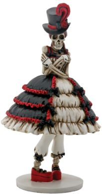 Day Of The Dead Steam Punk Girl Gothic Figurine