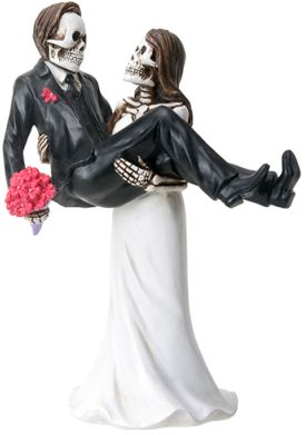 Skeleton Wedding Couple - Bride Carrying Groom