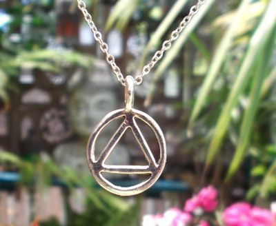 AA Recovery Symbol - Small Jewelry Pendant
