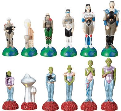 Alien Vs. Human Chess Set