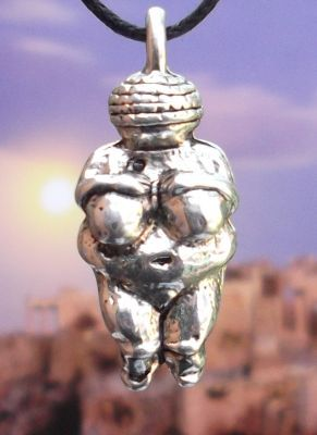 Ancient Goddess Of Willendorf Jewelry Pendant