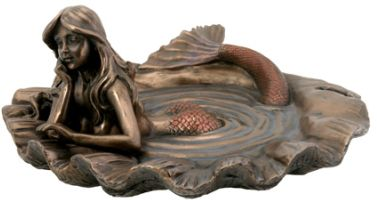 Art Deco - Art Nouveau Mermaid Tray Statue