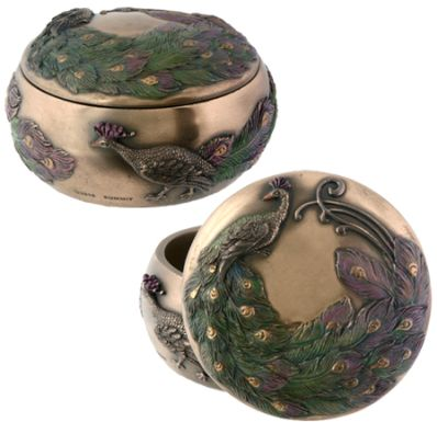 Art Nouveau - Art Deco Peacock Jewelry Box