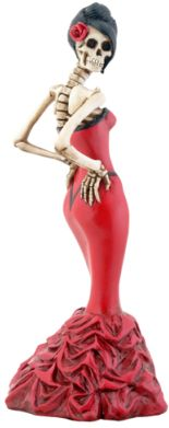 Skeleton Ballroom Girl Figurine