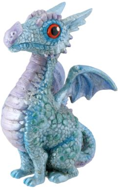 Blue Baby Dragon Statue