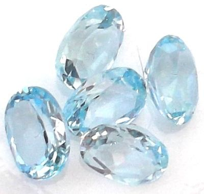 Blue Topaz Faceted Gemstone