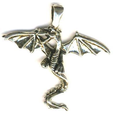 Broadwing Dragon Celtic Jewelry Pendant
