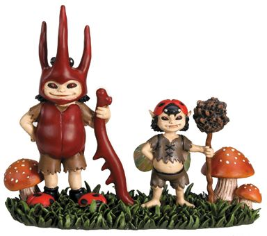 Brownie Boys Fairy Peeps Statue