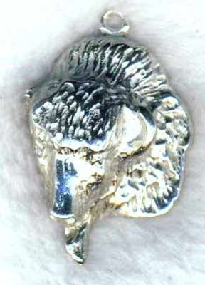 Buffalo Head Jewelry Pendant