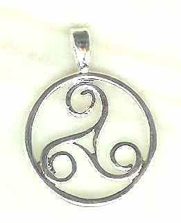 Celtic Encircled Sacred Three Jewelry Pendant