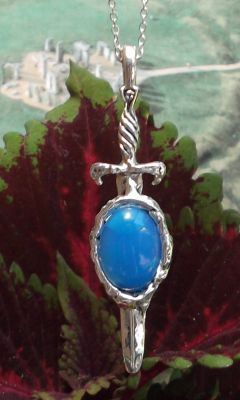 Celtic Excalibur Gem Pendant