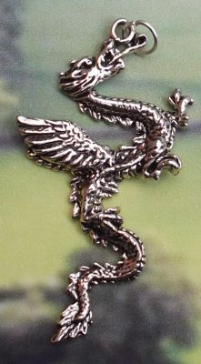 Celtic Gothos Dragon Jewelry Pendant