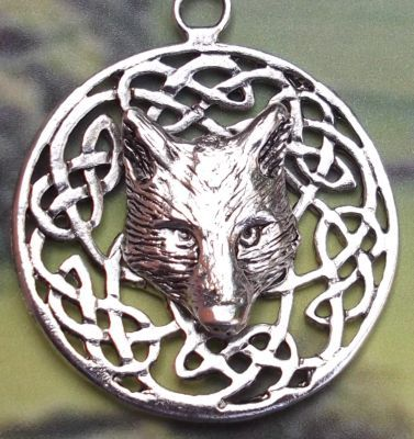 Celtic Knot Wolfs Head Celtic Jewelry Pendant