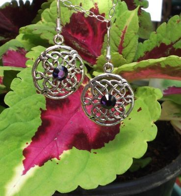 Celtic Love And Fidelity Earrings With Crystals