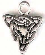 Celtic Wolfs Head Knot Jewelry Pendant