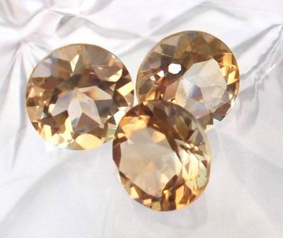 Citrine Faceted Gemstone
