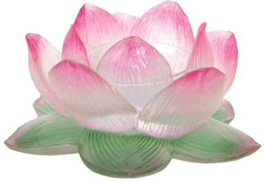 Clear Lotus Votive Candle Holder