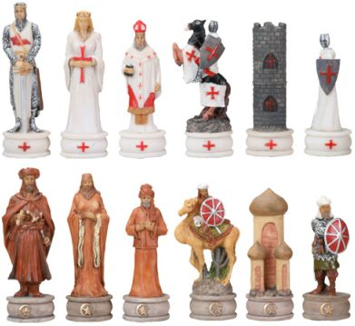 Crusaders 3-inch Chess Set