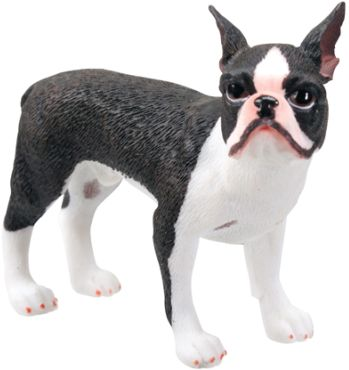 Dog Breed Statues - Boston Terrier Statue