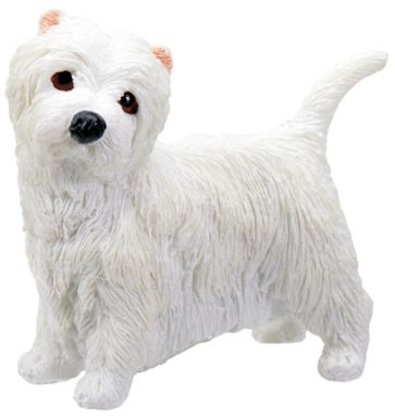 Dog Breed Statues - West Highland Terrier Puppy