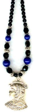 Cleopatra Midnight Lapis Egyptian Necklace