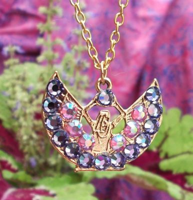Egyptian Isis Tanzanite Crystal Necklace
