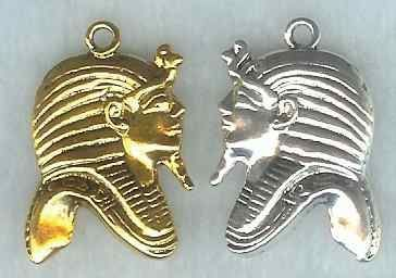 Egyptian King Tut Profile Pendant - Small