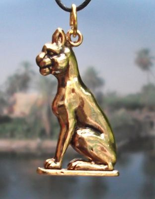 Large Egyptian Cat Goddess Bastet Pendant