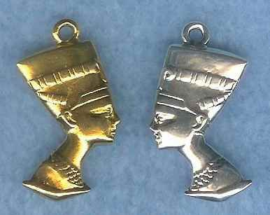 Large Egyptian Queen Nerfertiti Bust Pendant