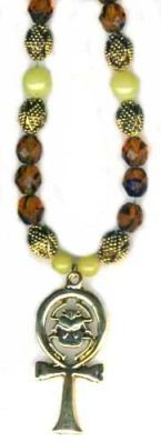 Sacred Ankh Serpentine Egyptian Necklace