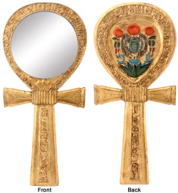 Ancient Egypt - Ankh Egyptian Hand Mirror