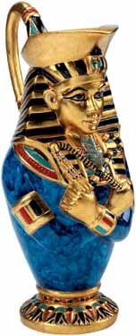 King Tut Egyptian Pharaoh Vase - Gold Leaf