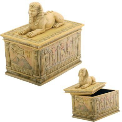 Ancient Egyptian Sphinx Jewelry Box