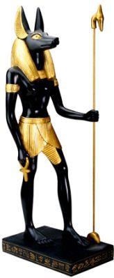 Ancient Egyptian Large Egyptian Anubis Statue Mandarava