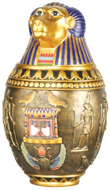 Ancient Egyptian Large Hapy Egyptian Canopic Jar